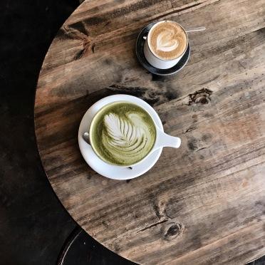 Green Tea Latte and Cortado